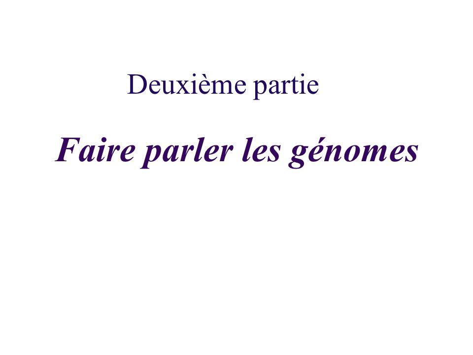 Faire parler les génomes