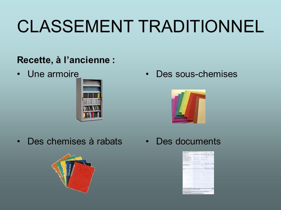 CLASSEMENT TRADITIONNEL