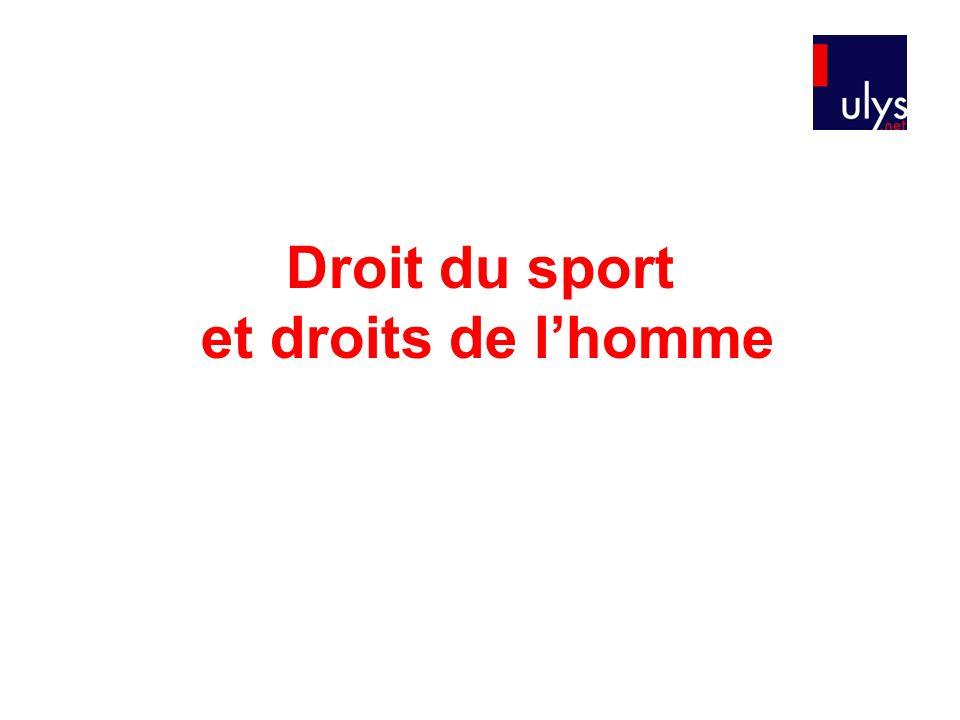 Droit du sport et droits de l'homme