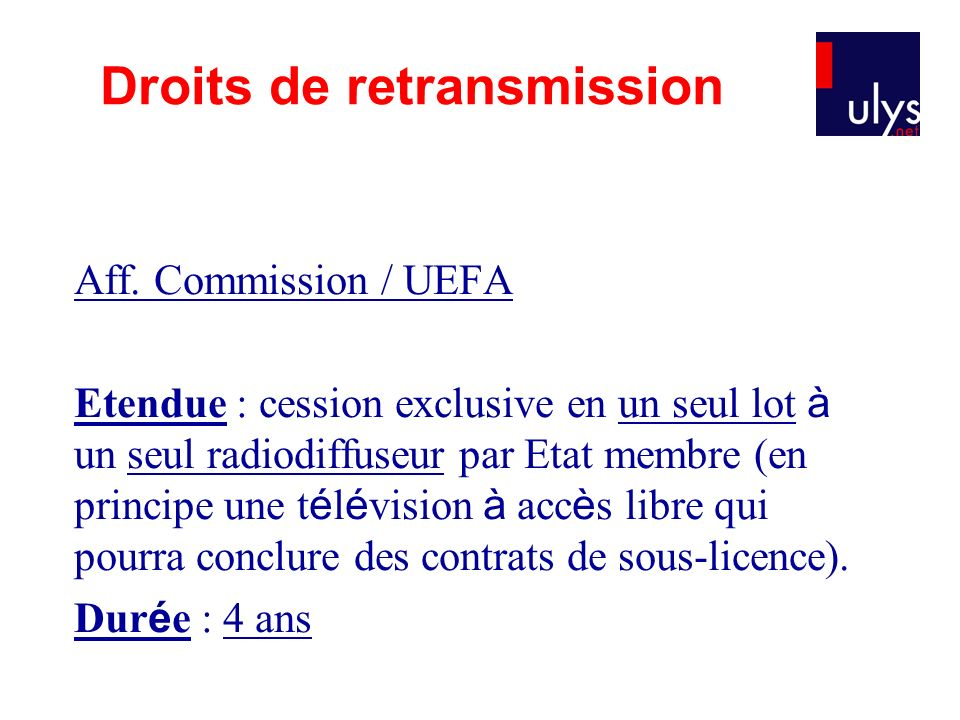 Droits de retransmission