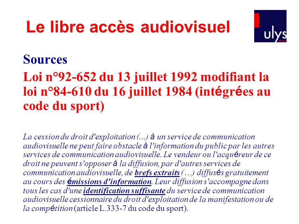 Le libre accès audiovisuel