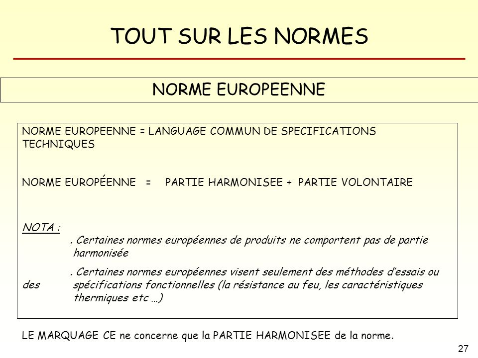NORME EUROPEENNE