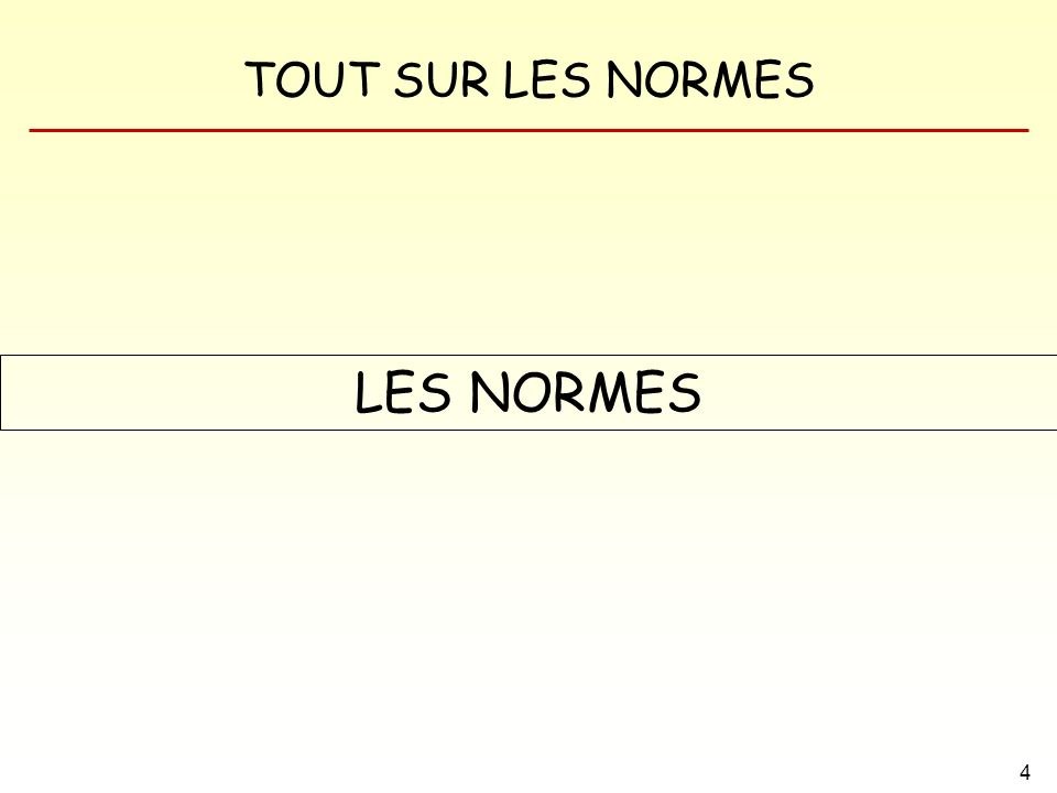 LES NORMES