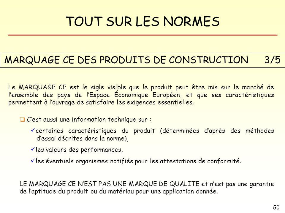 MARQUAGE CE DES PRODUITS DE CONSTRUCTION 3/5