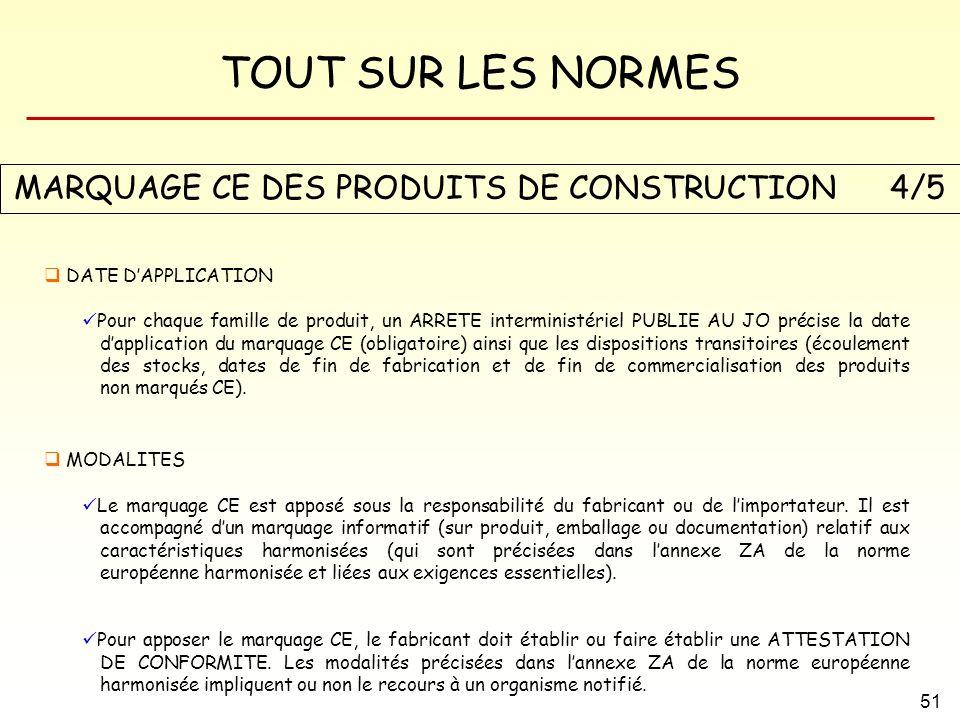 MARQUAGE CE DES PRODUITS DE CONSTRUCTION 4/5