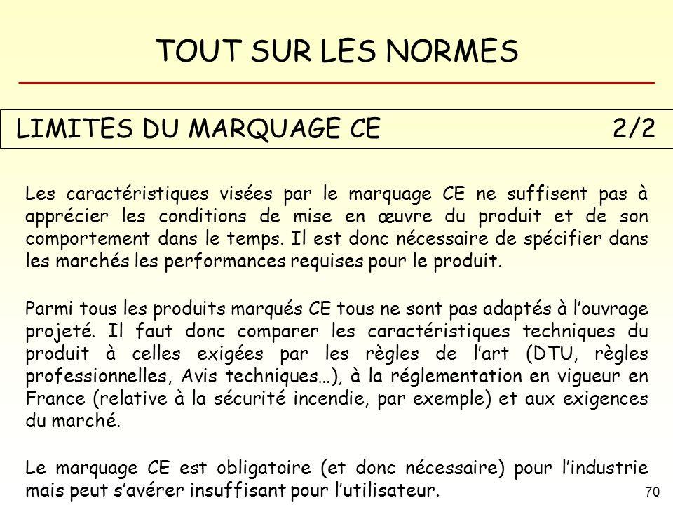 LIMITES DU MARQUAGE CE 2/2