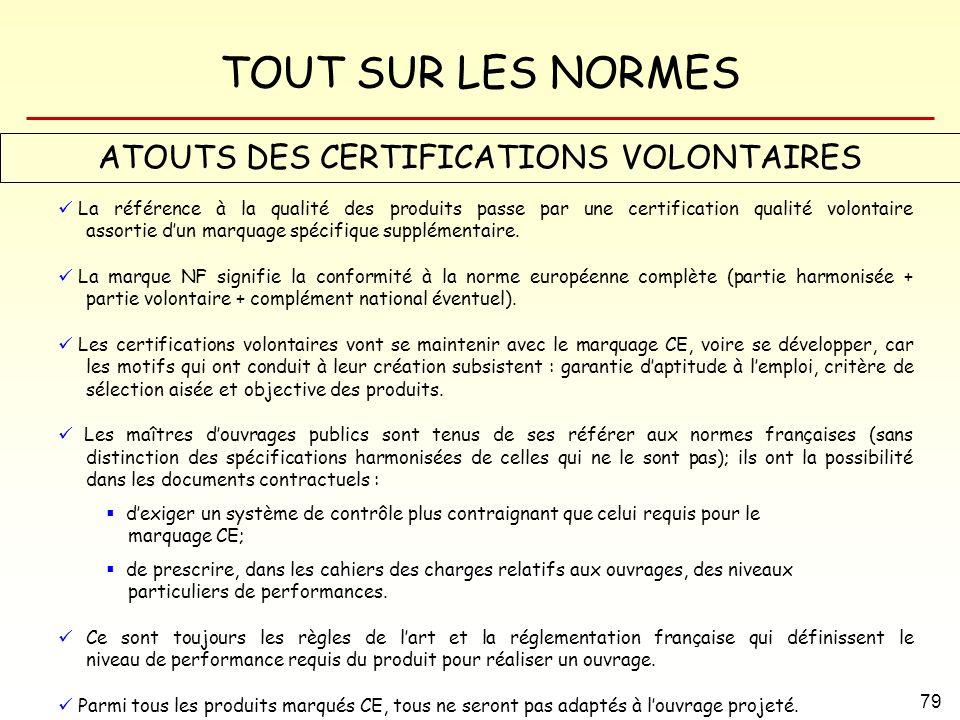 ATOUTS DES CERTIFICATIONS VOLONTAIRES