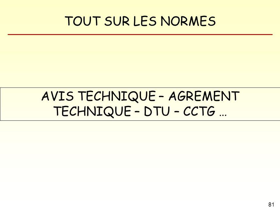 AVIS TECHNIQUE – AGREMENT TECHNIQUE – DTU – CCTG …