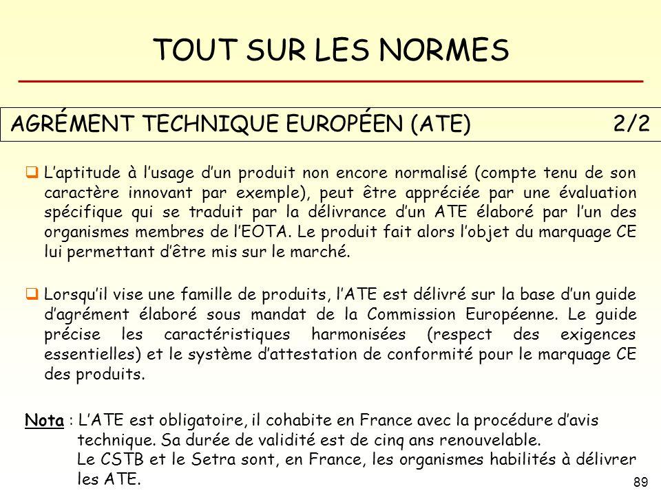 AGRÉMENT TECHNIQUE EUROPÉEN (ATE) 2/2