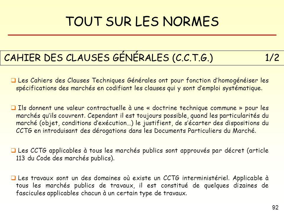 CAHIER DES CLAUSES GÉNÉRALES (C.C.T.G.) 1/2