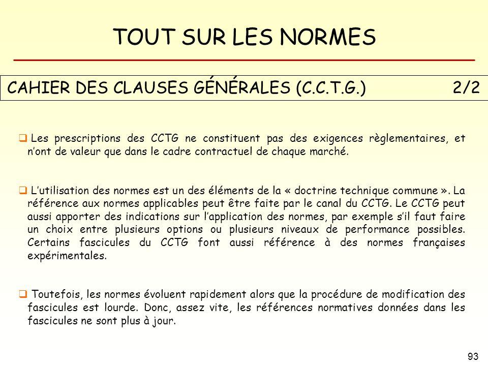 CAHIER DES CLAUSES GÉNÉRALES (C.C.T.G.) 2/2
