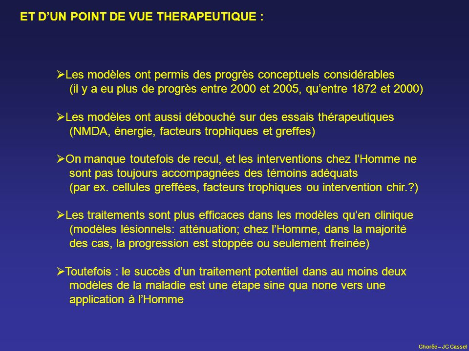 ET D'UN POINT DE VUE THERAPEUTIQUE :
