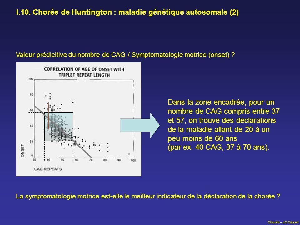 I.10. Chorée de Huntington : maladie génétique autosomale (2)
