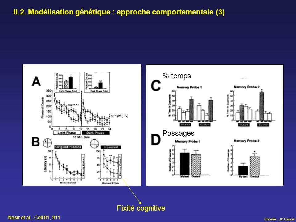II.2. Modélisation génétique : approche comportementale (3)