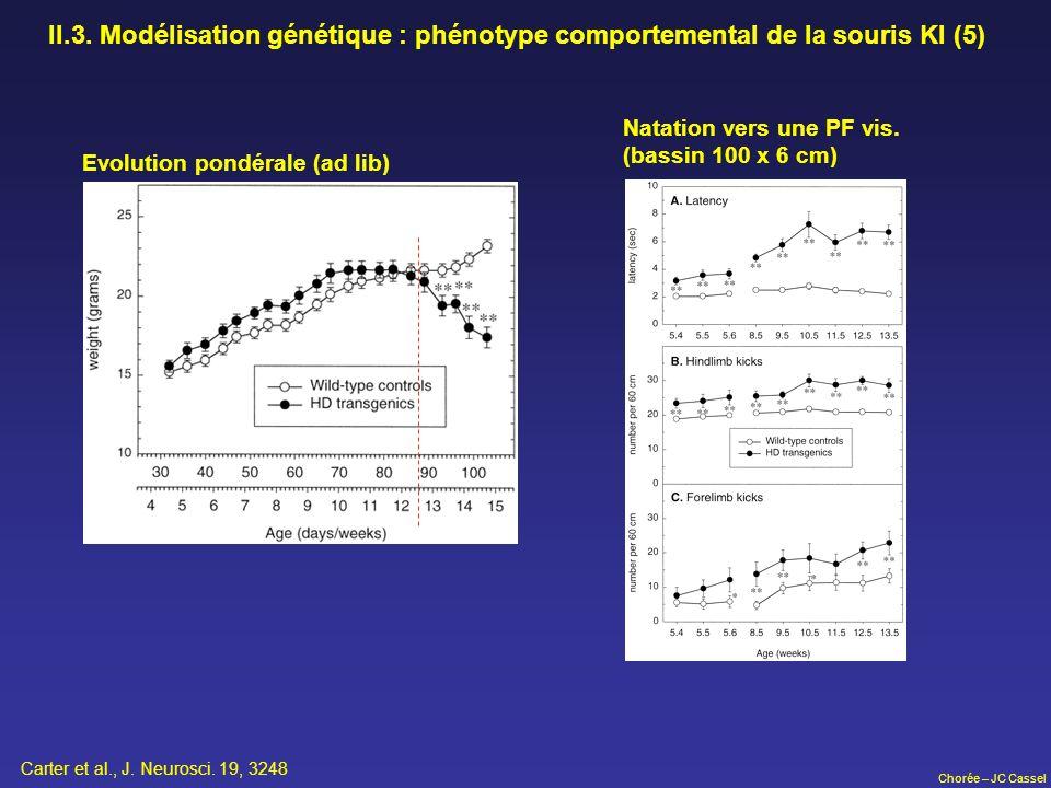 II.3. Modélisation génétique : phénotype comportemental de la souris KI (5)