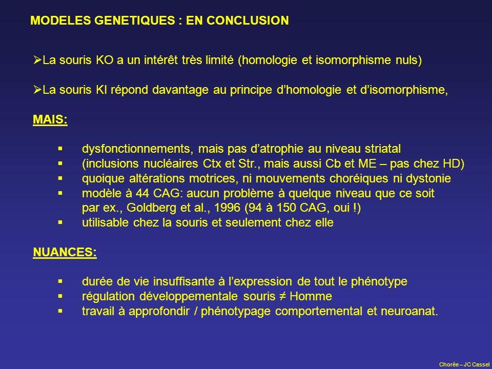 MODELES GENETIQUES : EN CONCLUSION