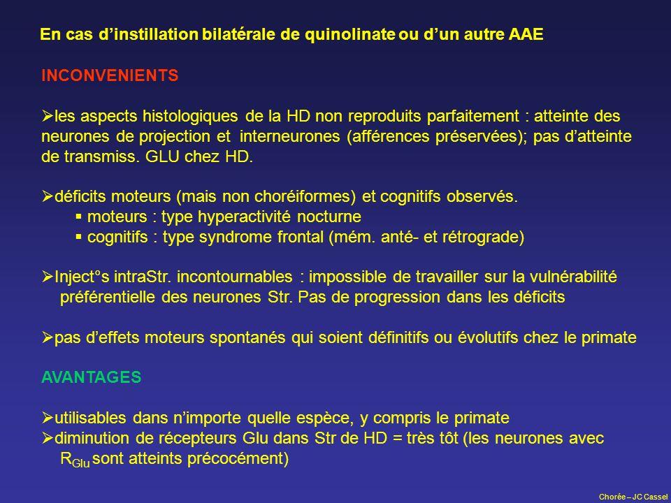 En cas d'instillation bilatérale de quinolinate ou d'un autre AAE
