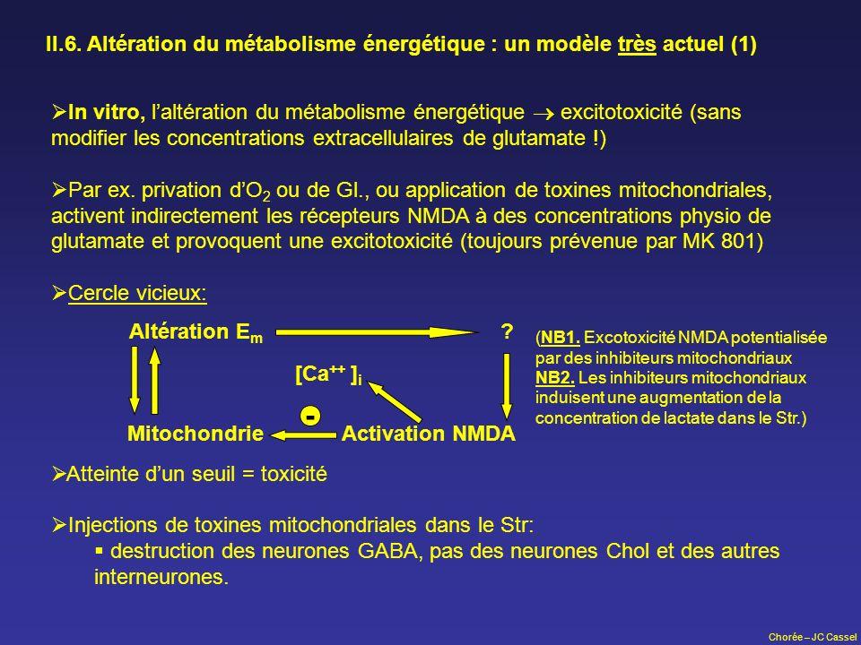 II.6. Altération du métabolisme énergétique : un modèle très actuel (1)