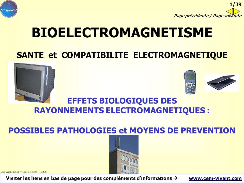 BIOELECTROMAGNETISME SANTE et COMPATIBILITE ELECTROMAGNETIQUE