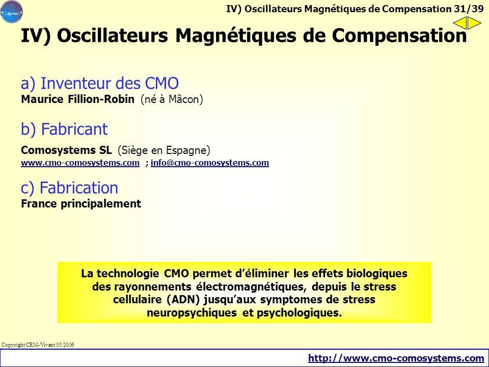 IV) Oscillateurs Magnétiques de Compensation