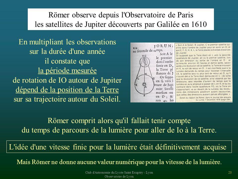 Römer observe depuis l Observatoire de Paris