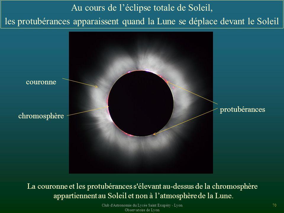 Au cours de l'éclipse totale de Soleil,