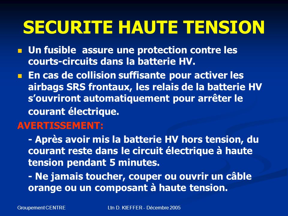 SECURITE HAUTE TENSION