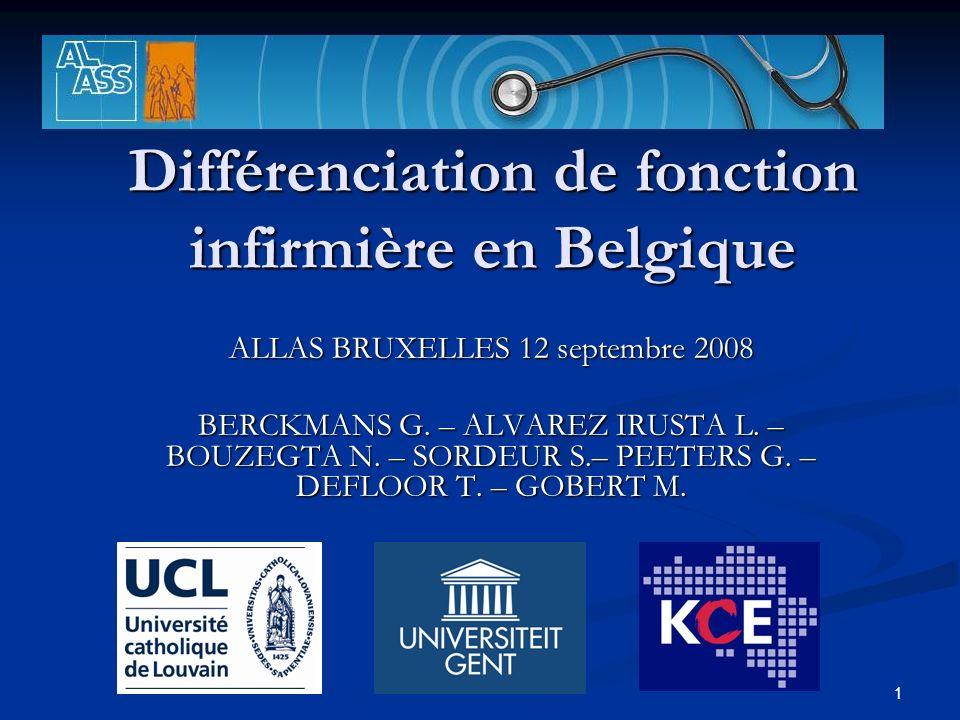 Différenciation de fonction infirmière en Belgique