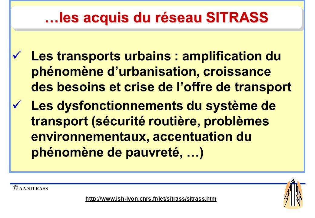 …les acquis du réseau SITRASS