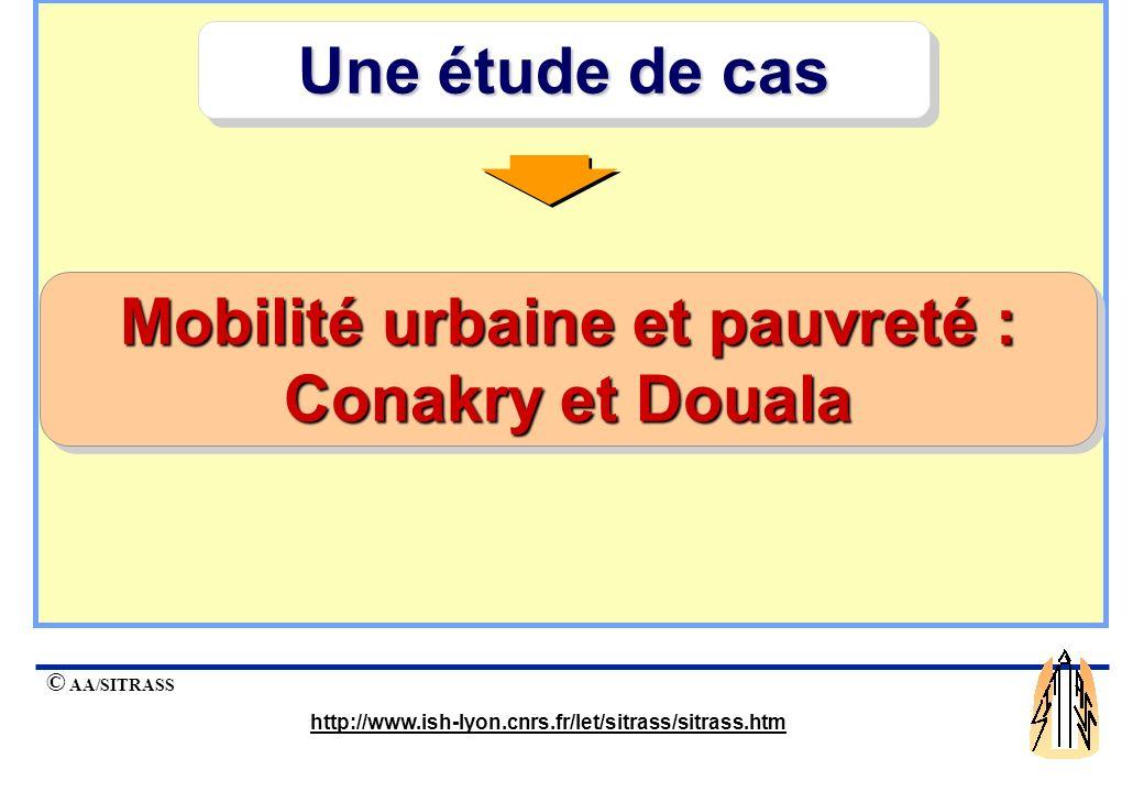 Mobilité urbaine et pauvreté : Conakry et Douala