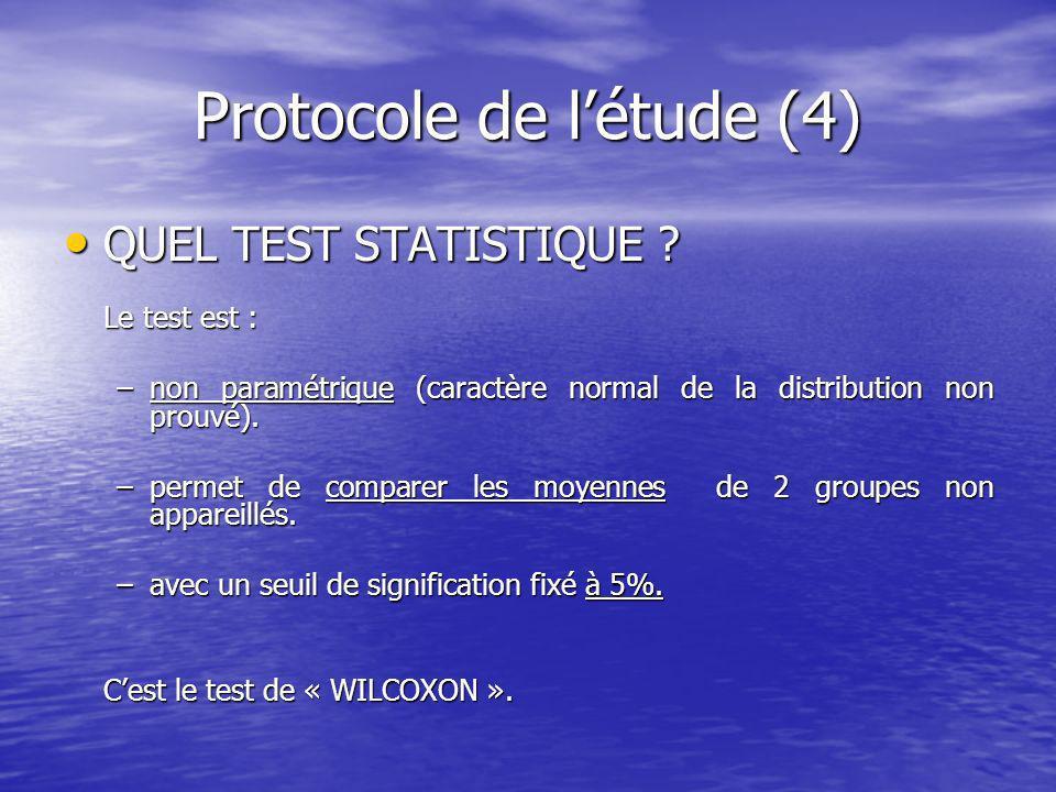 Protocole de l'étude (4)