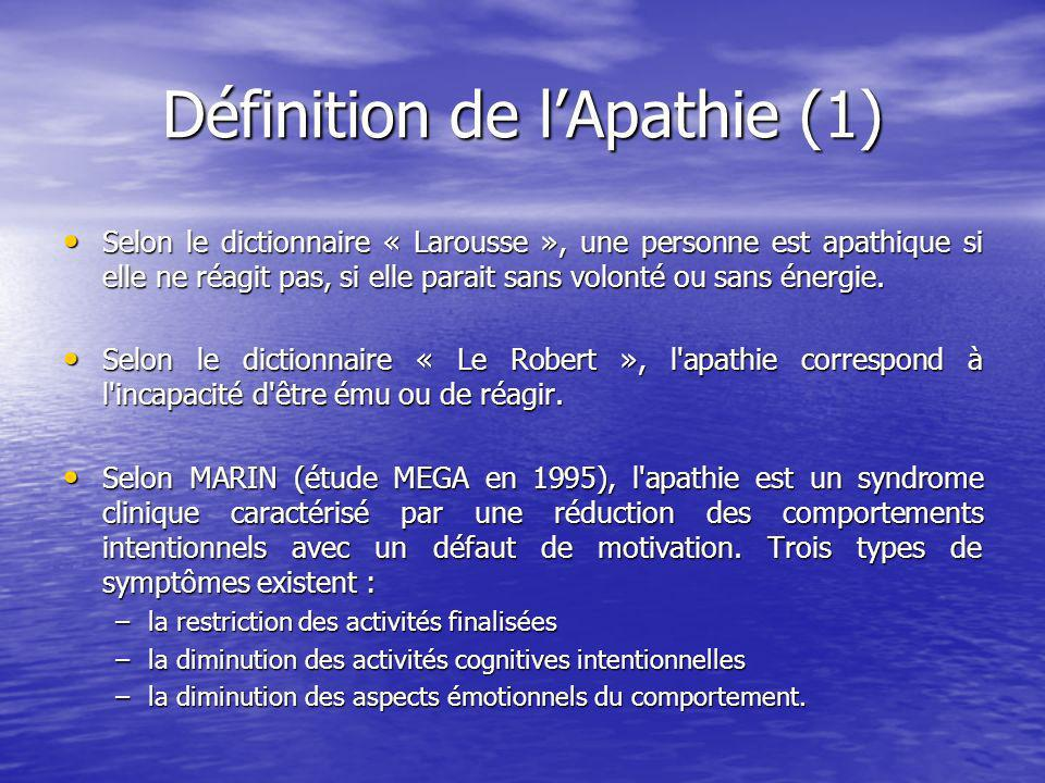 Définition de l'Apathie (1)