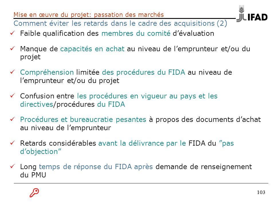 B Faible qualification des membres du comité d'évaluation
