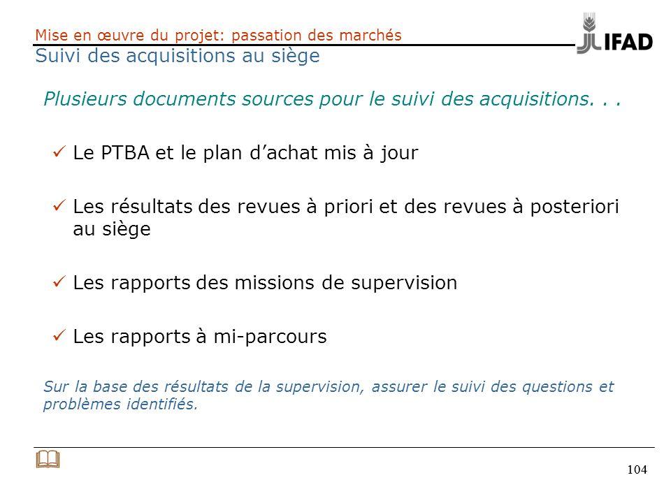 & Plusieurs documents sources pour le suivi des acquisitions. . .