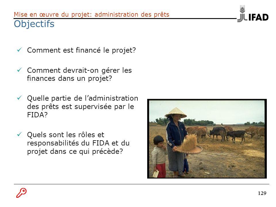 Objectifs Comment est financé le projet