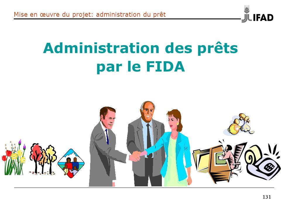 Administration des prêts