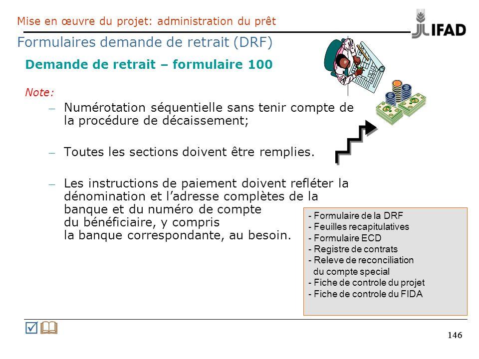 R& Formulaires demande de retrait (DRF)