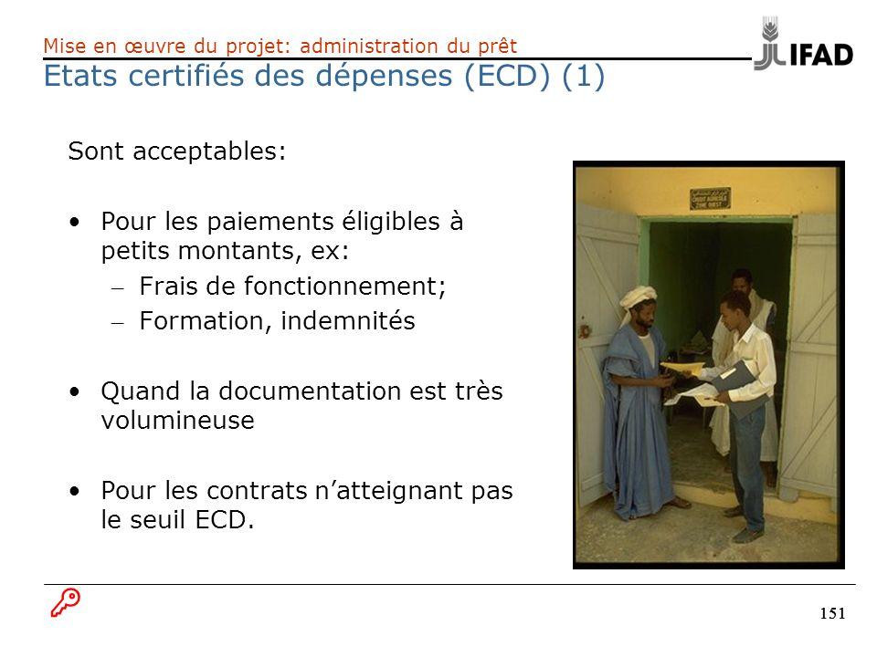 Etats certifiés des dépenses (ECD) (1)