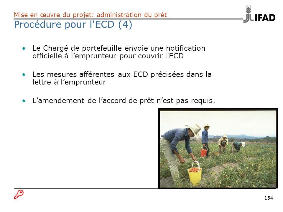 Procédure pour l ECD (4) B