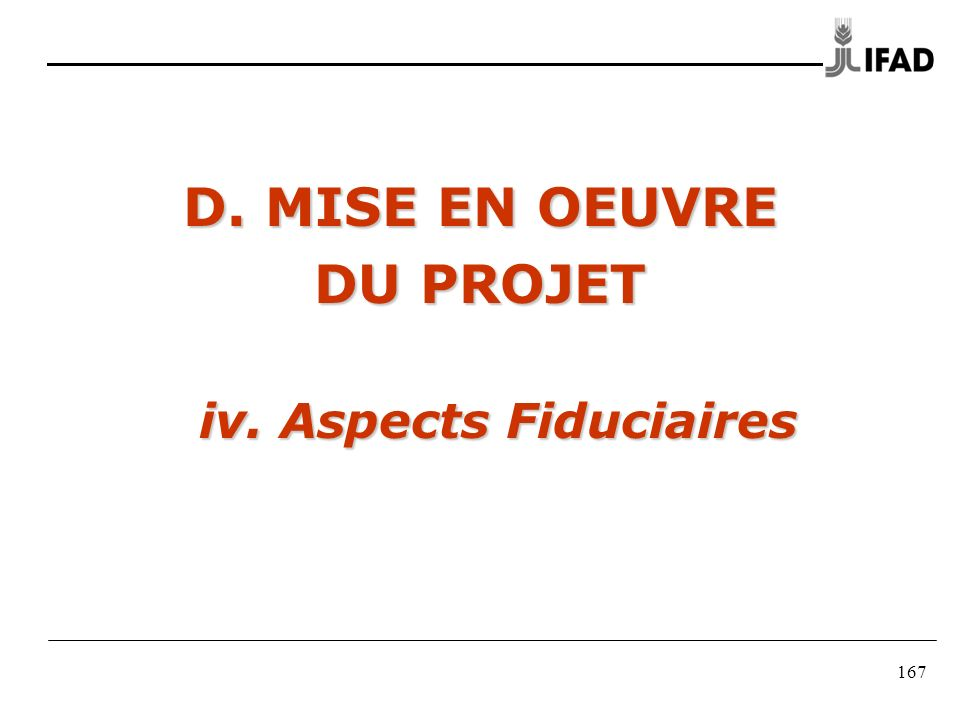 iv. Aspects Fiduciaires