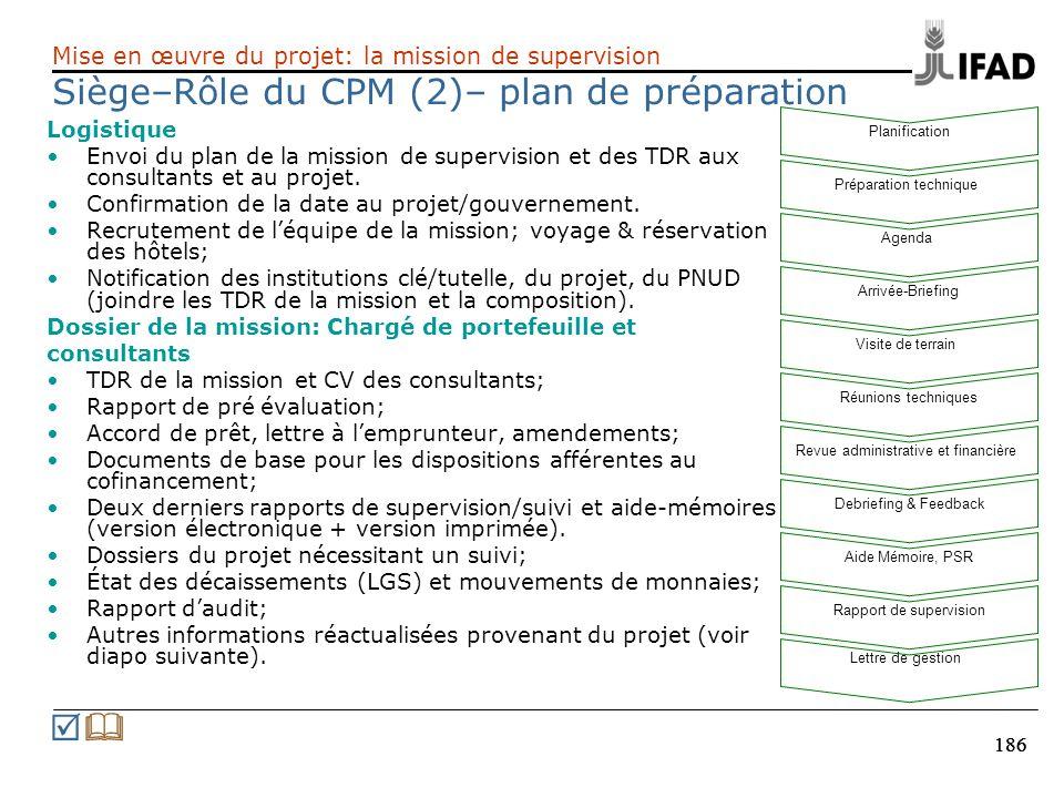 Siège–Rôle du CPM (2)– plan de préparation