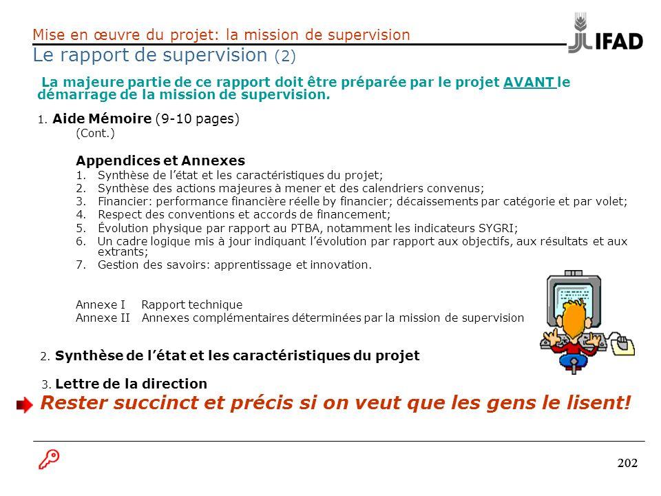 Le rapport de supervision (2)