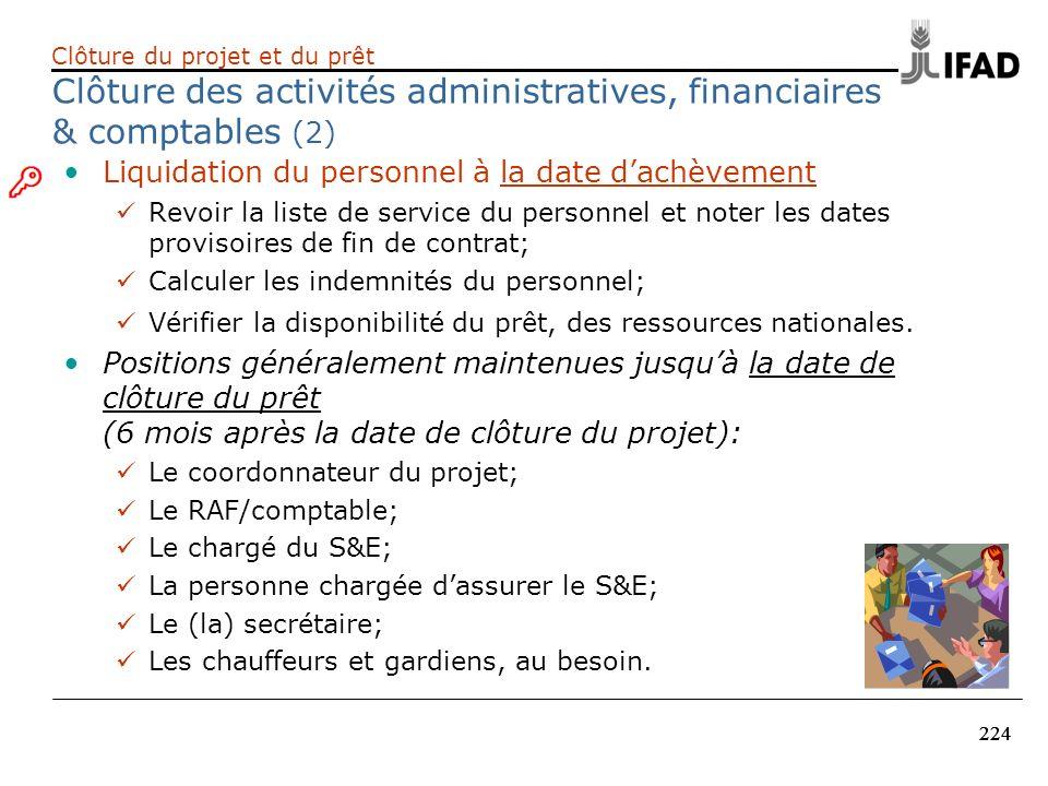 Clôture des activités administratives, financiaires & comptables (2)