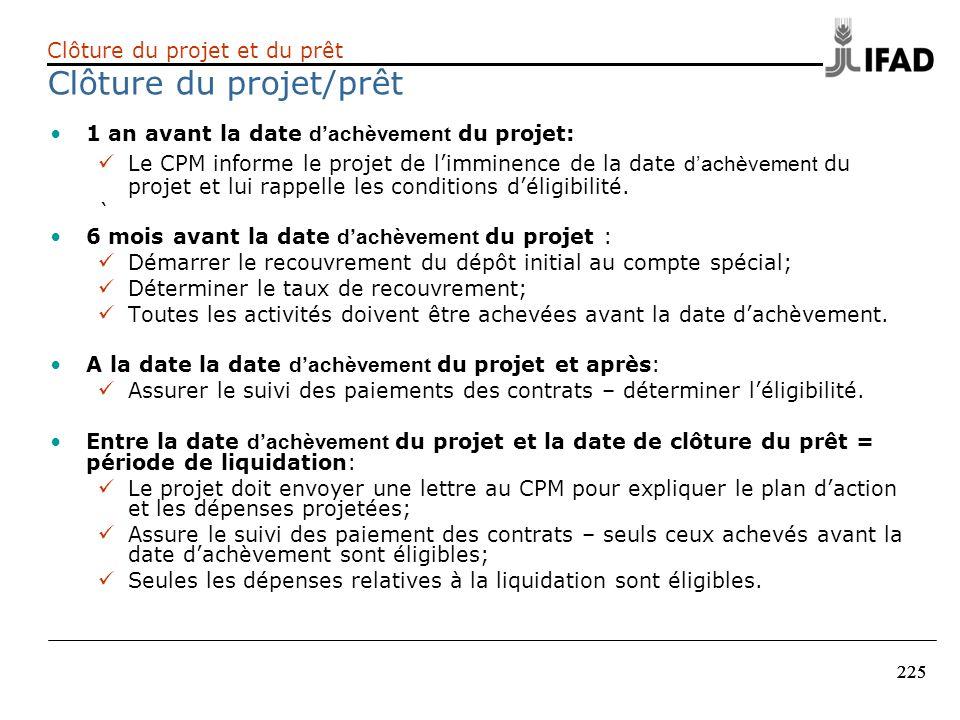 Clôture du projet/prêt