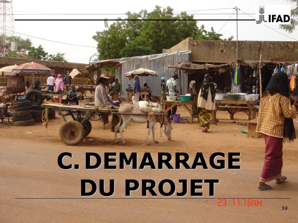 C. DEMARRAGE DU PROJET 39 39 39