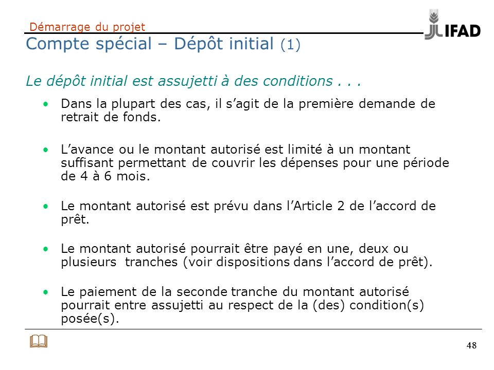 Démarrage du projet Compte spécial – Dépôt initial (1)