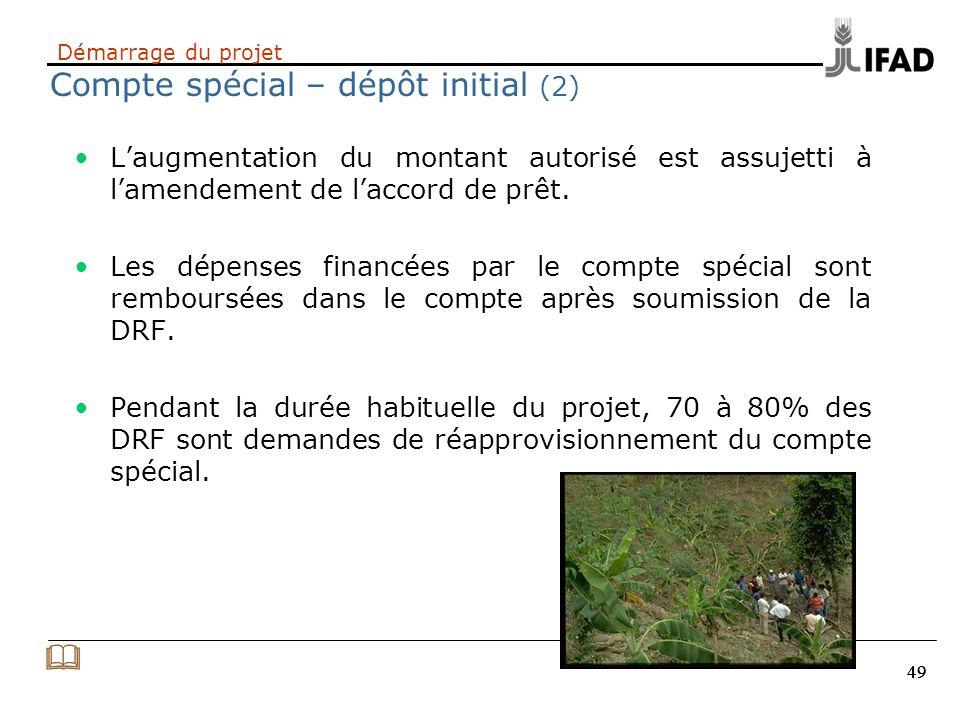 Démarrage du projet Compte spécial – dépôt initial (2)