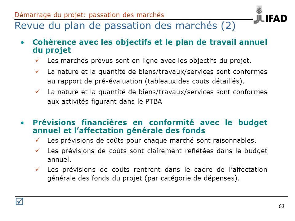 Revue du plan de passation des marchés (2)