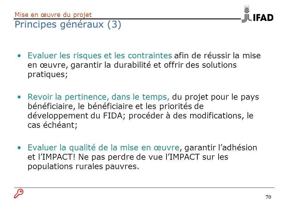 Mise en œuvre du projet Principes généraux (3)