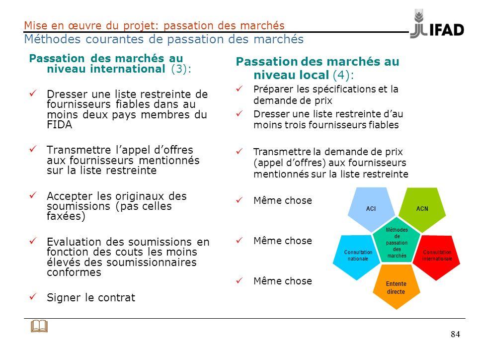 & Passation des marchés au niveau local (4):